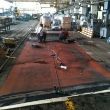 Изготовление стыка шириной ленты 3000мм на территорию заказчика